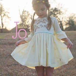 Well Dressed Wolf Boho Jo yellow dress 4T